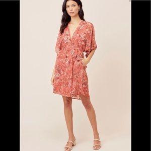 Lovestitch: Kimono Sleeve Floral Mini Dress